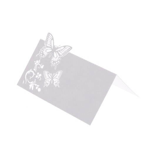 Tomtop coupon: 10Pcs Romantic White Carved Butterfly Table Mark Name Place Card for Wedding Birthday Banquet Decoration