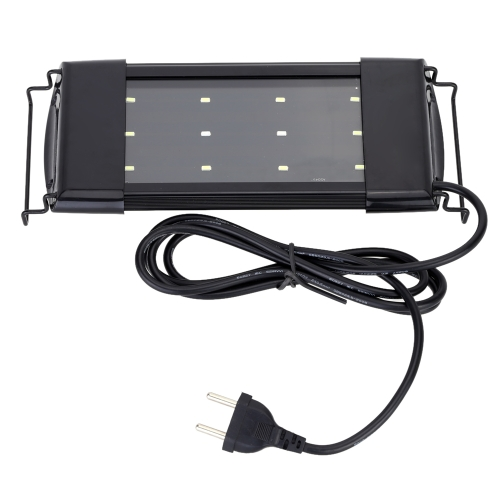 Aquarium Fish Tank SMD LED Lamp with Adjustable Bracket Bright White+Blue Color Light Lighting Decoration Accessory 6W