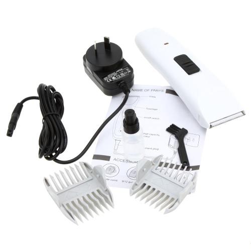 100-240V Профессиональная Аккумуляторная Низкий уровень шума Электрическая Белая Машинка для стрижки Домашнее животное Собака Кошка Волосы Триммер Стрижка Инструмент