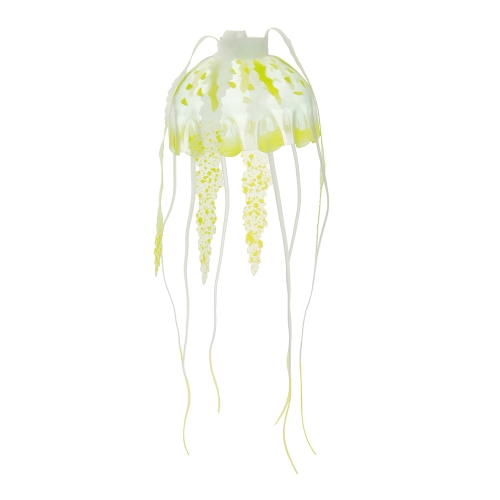 5cm Artificial Glowing Jellyfish with Sucker Fish Tank Aquarium Decoration Rose