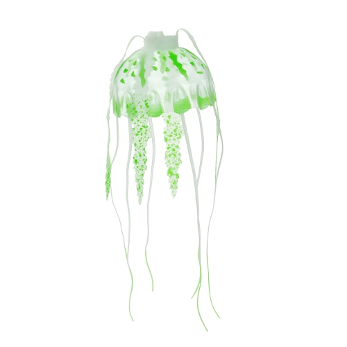 10cm Artificial Glowing Jellyfish with Sucker Fish Tank Aquarium Decoration Purple
