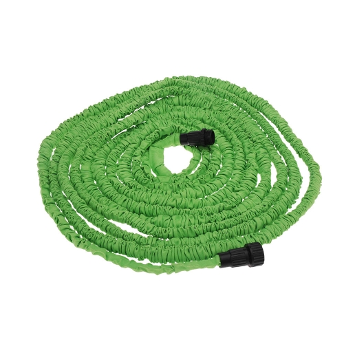 Anself  75FT Expandable Ultralight Garden Hose Fittings Set Flexible Water Pipe + Faucet Connector + Fast Connector + Valve + Multi-functional Spray Nozzle Green