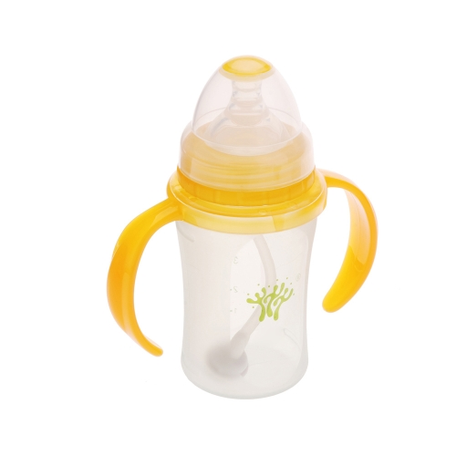 160ml Silicone Milk Feeding Bottle Nipple with Handle for Baby Infant