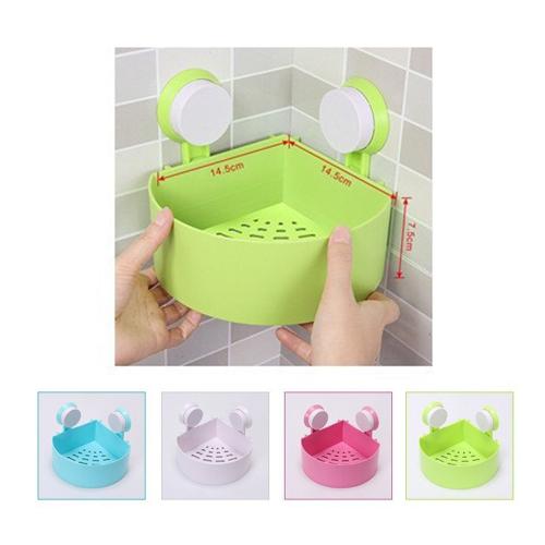 Plastic Bathroom Shelf Kitchen Storage Holder Kitchenware Toiletry Organizer with Sucker
