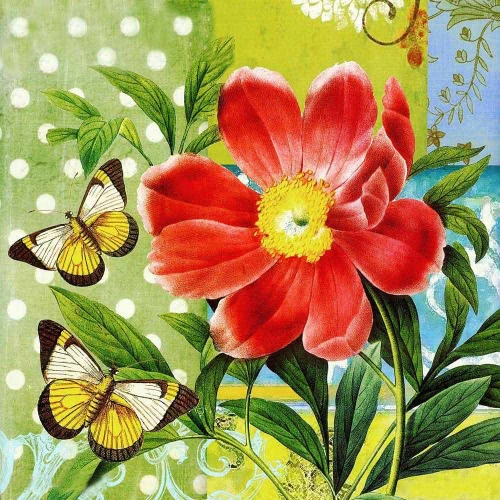 DIY Handmade Diamond Painting Set Butterflies over Flowers Resin Rhinestone Pasted Cross Stitch for Home Decoration 35*35cm