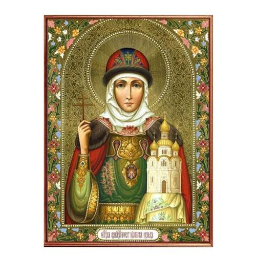 Diamant la main bricolage peinture définie Figure religieuse résine strass collé croix pour la décoration maison 30 * 40cm