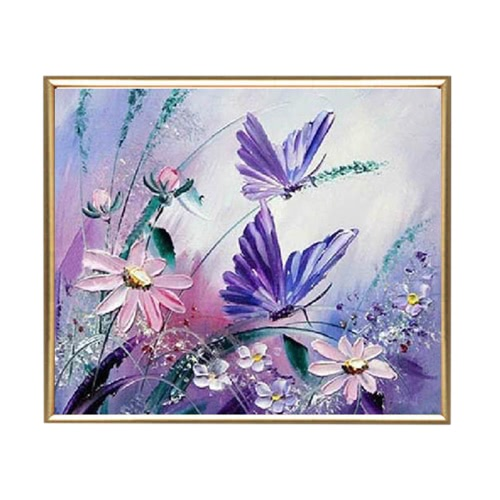 DIY Diamant Wandbilder Malerei Set für Wohnzimmer 30*30cm(Schmetterling)