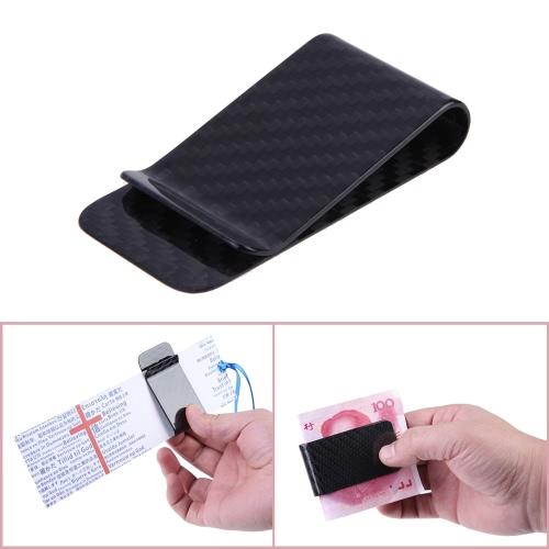 Anself  Véritable fibre de carbone argent Clip porte-cartes argent portecartes poli et mat pour les Options