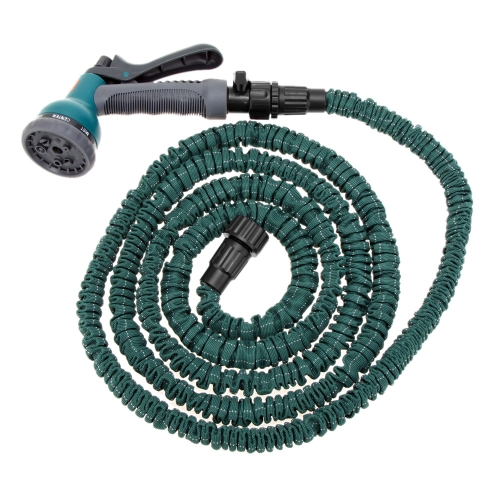 Raccords de flexible extensible Ultralight jardin 25PI Anself définir Flexible tuyau d'eau robinet connecteur connecteur rapide + Valve + buse multifonction vert foncé