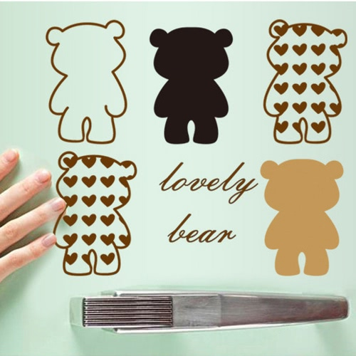 Removable Wall Decal Sticker Lovely Bear DIY Wallpaper Art Decals Mural for Room Decoration 45 * 60cm
