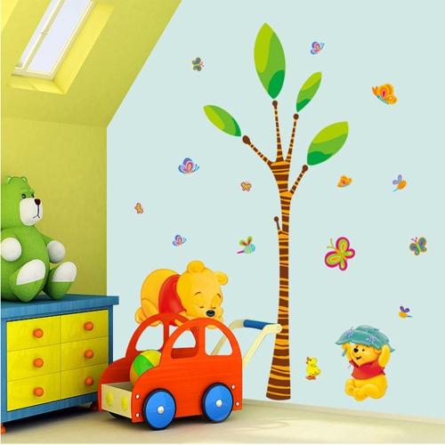 Removable Wall Decal Sticker Cartoon Bear DIY Wallpaper Art Decals Mural for Room Decoration 50 * 70cm