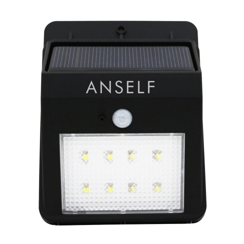 Anself Solar Power Lamp Bright Light 8LED PIR Motion Sensor Water-resistant Environmental-friendly for Pathway Outdoor Stair Step Garden Yard