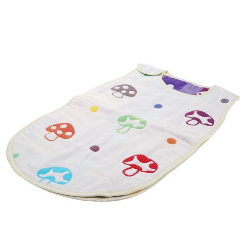58*35cm Soft Thick Mushroom Pattern Baby Infant Sleeping Bag Swaddle Snap Fasteners