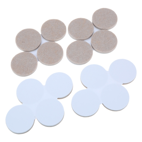 16pcs 3.8*3.8cm Self-Stick Self-adhesive Round Felt Pads Accessory Patch for Dining Chairs Tables