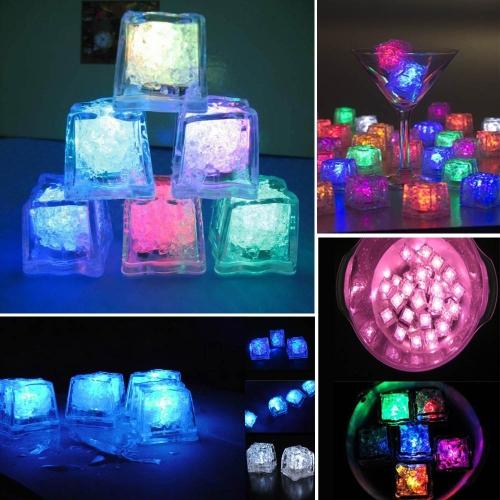 Мини Творческий Ночник Светодиодный С искусственным льдом Кусочек Свадебные украшения Вечеринка Смешанный Цвет