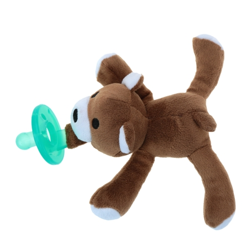 Infant Baby Silicone Pacifiers with Plush Animal Toy Baby Nipples