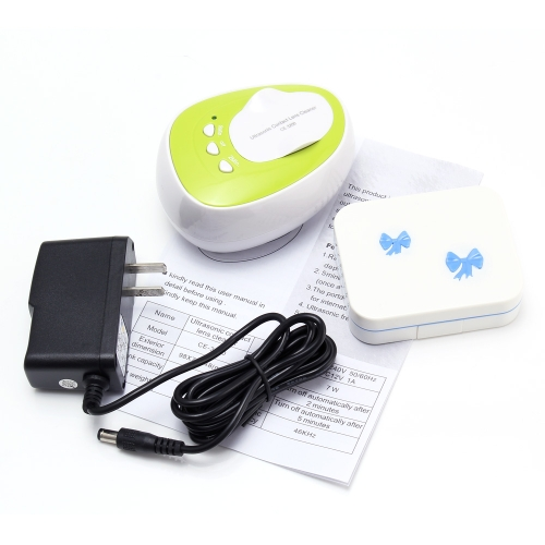 Portable Mini Ultrasonic Contact Lenses Cleaner Machine 2 Minutes 4ML 46KHz Cleaning Sterilization Daily Care