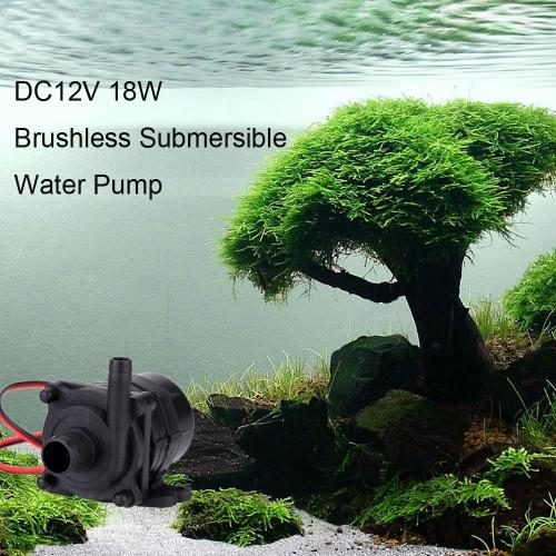 Anself DC12V 18W Mini Pompe à Eau Sans Balais Submersible Aquarium Pump pour Poisson Réservoir Aquarium Fontaine Flowerpot