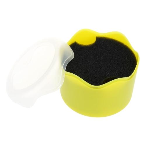 Moda ronda reloj único plástico caja estuche de reloj de pulsera con amortiguador de la esponja