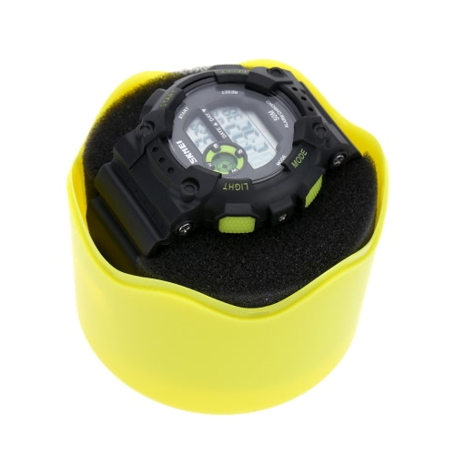 Fashion Round Plastic Single Watch Box Wristwatch Storage Case with Sponge Cushion