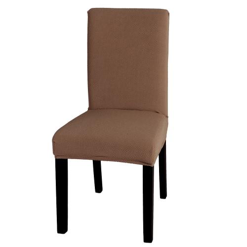 54cm Высококачественный мягкий полиэстер Спандекс Чехол для стула Чехол для мебели Желтовато-бурый