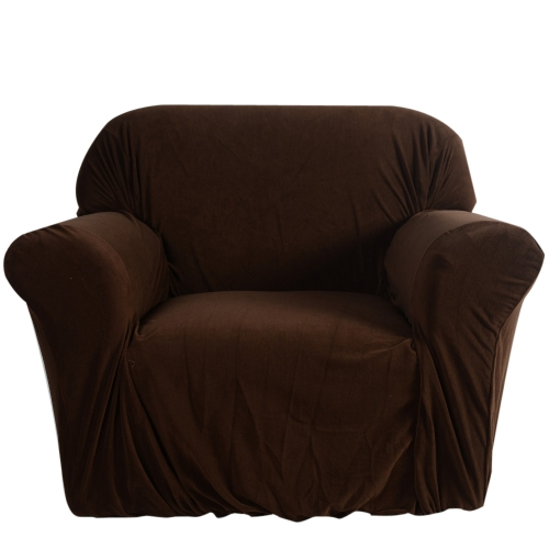 High Quality Elastic Soft Polyester Spandex Slipcover Couch Sofa Cover 2 Seater Brown