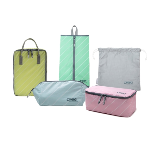 CHOOCI Lightweight Traveling Handy Durable Multifunction Storage Bags Set for Business Trip with Five Separate Bags in Five Refreshing Colors