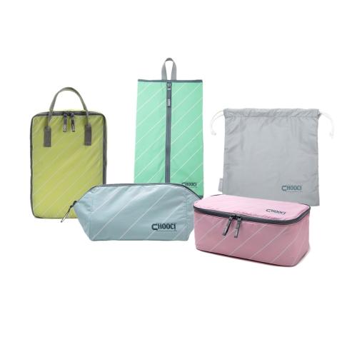CHOOCI Organizadores de maleta para viaje muy ligeros prácticos duradero multifuncionales de almacenamiento fijados para el asunto de viaje con cinco bolsas separadas en cinco colores refrescantes
