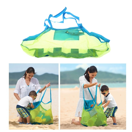 Anself Bolsa de almacenamiento de juguetes plegable y multifuncional de herramientas de conchas de playa de niños bolsa de cochecillo bolso de arena excavación de alta calidad