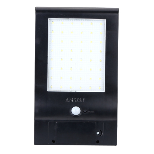Anself 48LED 850lm Solar Power Lamp Water Resistant Bright Stairway Lighting Wall Light Sensitive Motion Sensor