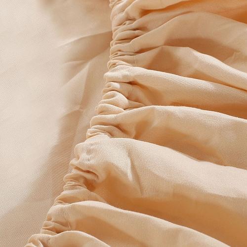 Комфортабельный Чистый Цвет С особенным украшением вышивки лотоса Двухпредметный Набор для лица и ухода з а кожей 100% полиэстер Дом Постельные принадлежности Три Куска Простыня Простыня на резинке Наволочка