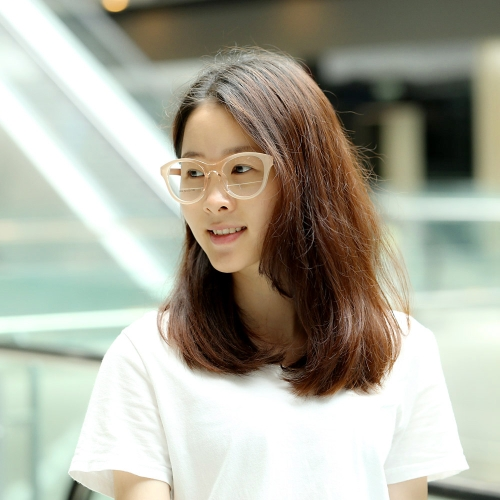 Fashionable Gradient Color Big Lenses Eyeglasses Glasses Frame Dark Blue