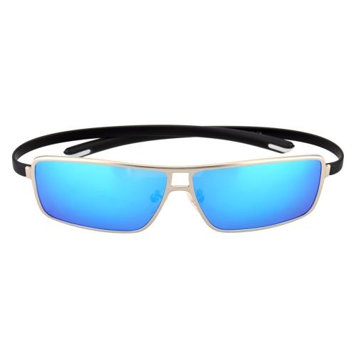 Classic Huge Blue Lenses Sunglasses Polarized Glasses for Men