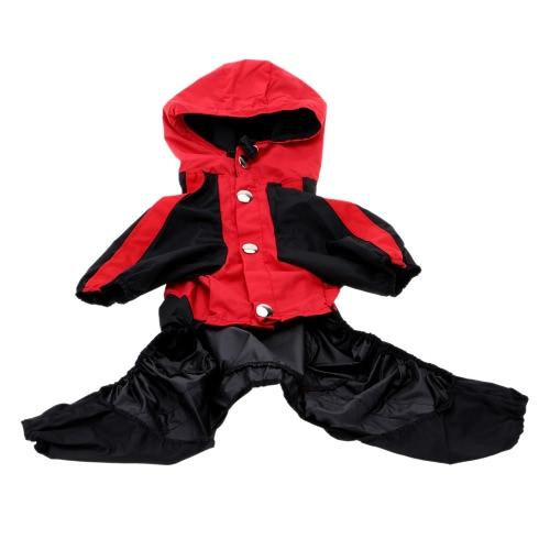 Регулируемый водонепроницаемый собака плащи для малых & среднего размера собаки дождя куртку Л товары для домашних животных