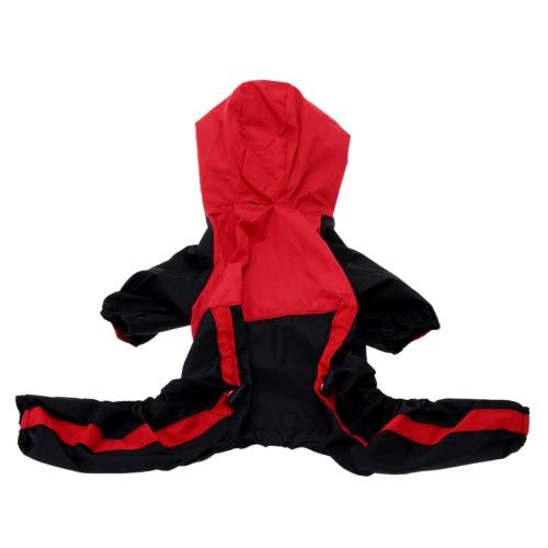 Einstellbarer Wasserdichter Hunderegenmantel für kleine und mittelgroße Hunde Regen Jacke L Haustier Gebrauchsartikel