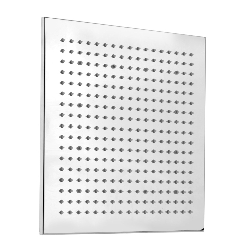 """12 """"chrom Finish LED kwadratowy natrysk natryskowy czujnik temperatury tryskacza 3 kolor"""