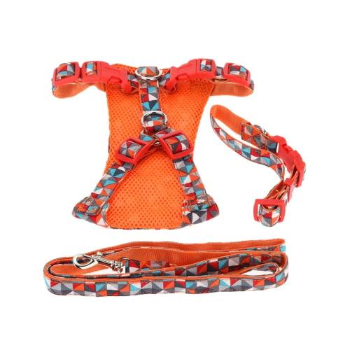 L Hundehalskette Haustier Kleidung Hündchen Tractionsanzug Katze Kätzchen Gurt Leine Zugseil Haustiere Kragen Lieferungen