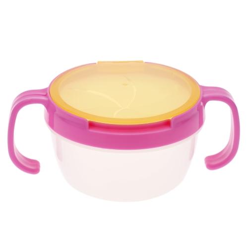 Lanche infantil tigela sem espirrar piquenique companheiro bebê alimentos doces caixa com alça bebês Cookies Cup
