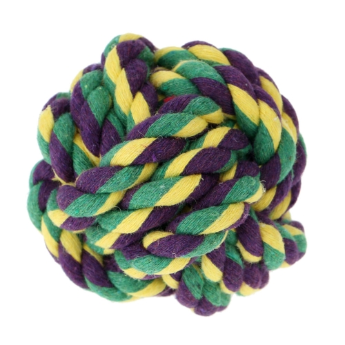 Fashion Multicolor Small Pet Rope Ball Dog Chew Toy Toxic Free Puppy Safe Entertained Rope Toy Multi Knots Rope Ball for Pet