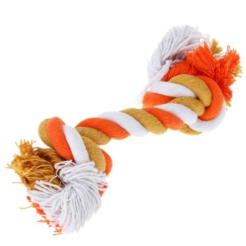 Anself многоцветной хлопок животное веревка кости прочный кость формы собака жевать игрушки токсичные бесплатно Щенок развлекали веревку кости игрушка мульти Knots веревку кости для питомца
