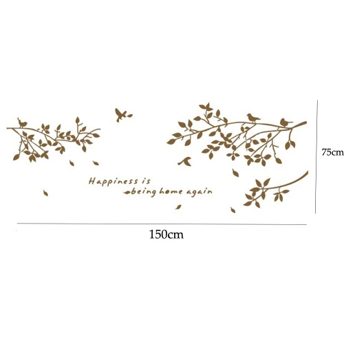 Съемным стены Термоаппликации стикер филиал птицы искусство росписи таблички DIY Обои для украшения комнаты 60 * 75 см