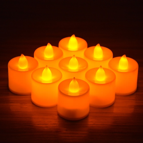 24Pcs 3.7*4.5cm LED Flameless Candle Set for Wedding Party Valentine Events Decoration Green