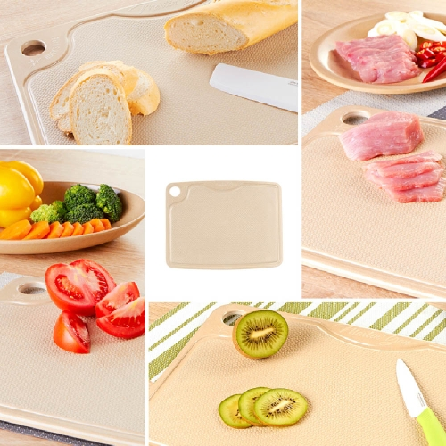 Eco-friendly Natural Rice Husk Fiber Antibiotic Cutting Mincing Board Biodegradable Chopping Block 30*23cm
