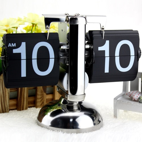 Small Scale Table Clock Retro Flip Over Clock