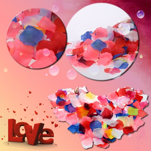 Colorful Wedding Perfect Simulation Flower Petals Romantic Vivid Artificial Flower