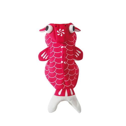 Soft Lovely Pet Dog Puppy Clothes Coat Lovely Red Goldfish Costume for Spring Autumn M