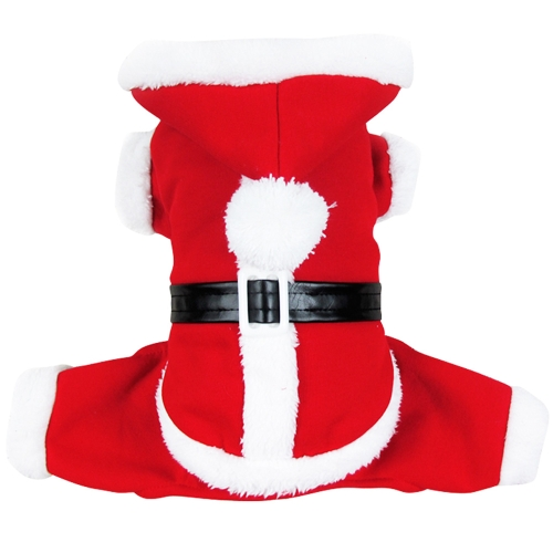 Soft Warm Pet Dog Puppy Clothes Christmas Santa Claus Costume with Hat S