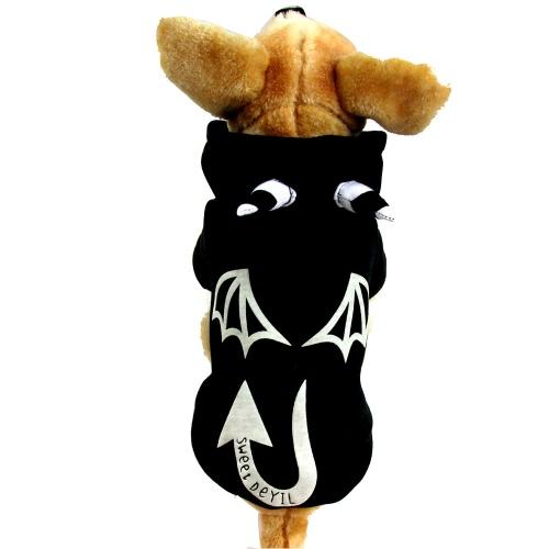 Модная Одежда для Домашних Собак Костюм Дизацна Дьявола на Хэллоуин для Щенят Пальто S на Осень