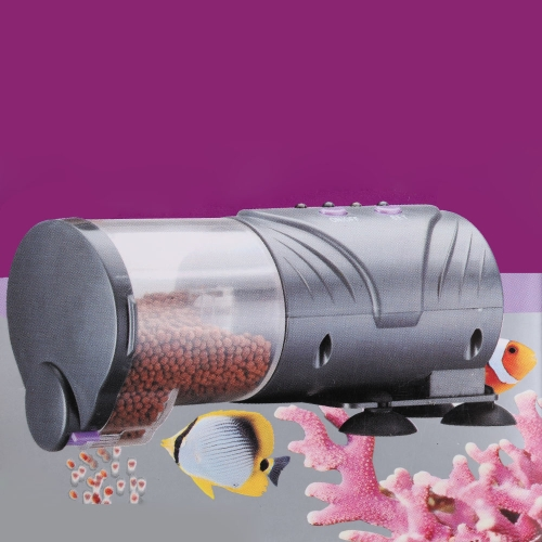 Automático de pescado acuario alimentador tanque Auto Timer de alimentos alimentación salida ajustable dispensador