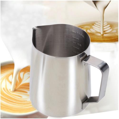 Leche Frother jarra leche espuma envase del acero inoxidable tazas café aparato de medición